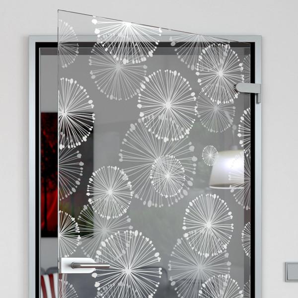 Produktbild 2 Glastür gelasert mit Motiv Flocken by Lionidas - Die Glastür mit dem Motiv