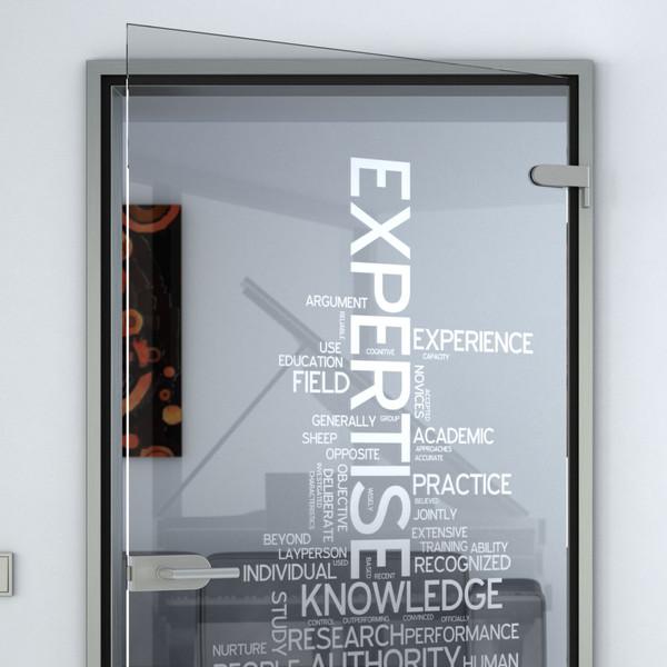Produktbild 2 Glastür gelasert mit Motiv Typo II by Lionidas - Eine Glastür - wie gemacht für Büroräume