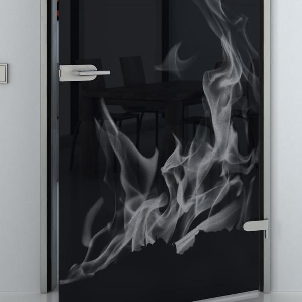 Produktbild 2 Glastür lackiert mit Lasermotiv Flammen by Lionidas - Mit der Lacobel Glastür mit dem Motiv