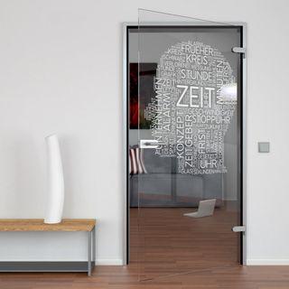 Produktbild 1 Glastür gelasert mit Motiv Zeitgeist by Lionidas] - Die Glastür