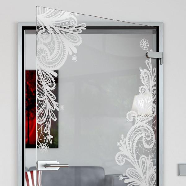 Produktbild 2 Glastür gelasert mit Motiv Floralish by Lionidas - Die Glastür mit dem Motiv