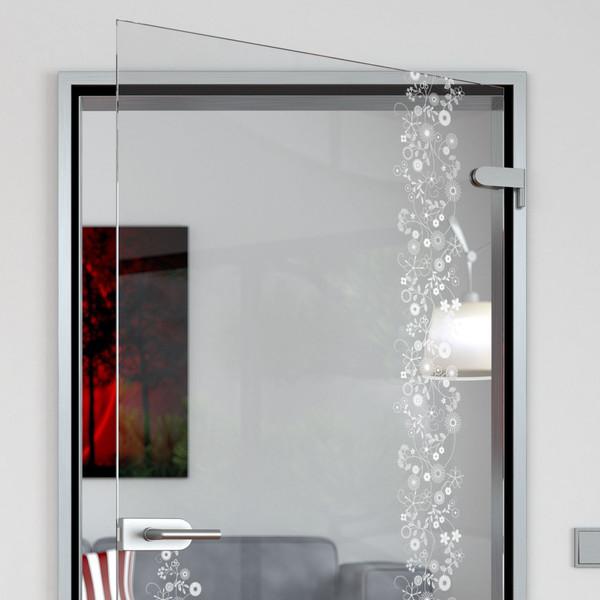 Produktbild 2 Glastür gelasert mit Motiv Floral by Lionidas - Die Glastür