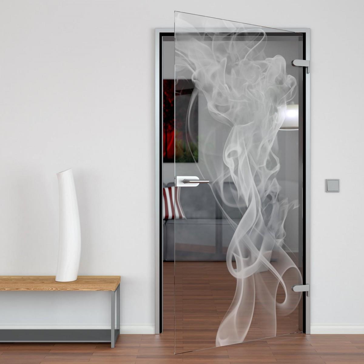 Glastür Smoke