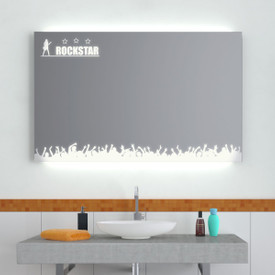 Badspiegel LED Rockstar