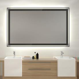 Glas auf Glas Spiegel mit Motiv Black Minerals