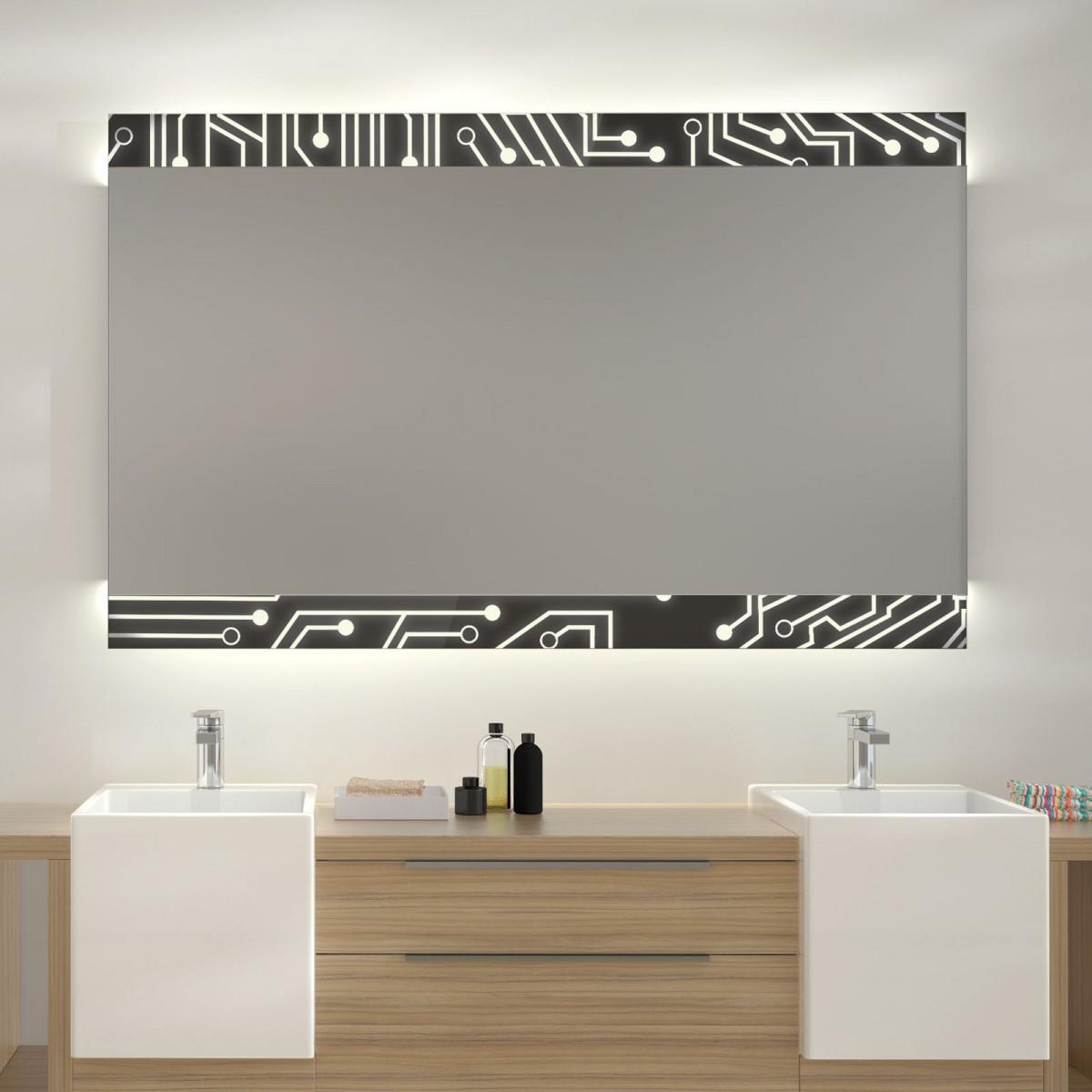 Glas auf Glas Spiegel mit Motiv Electric