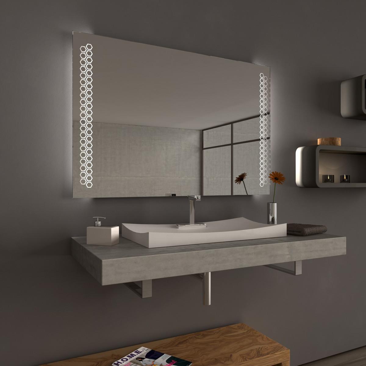 Badspiegel Waben