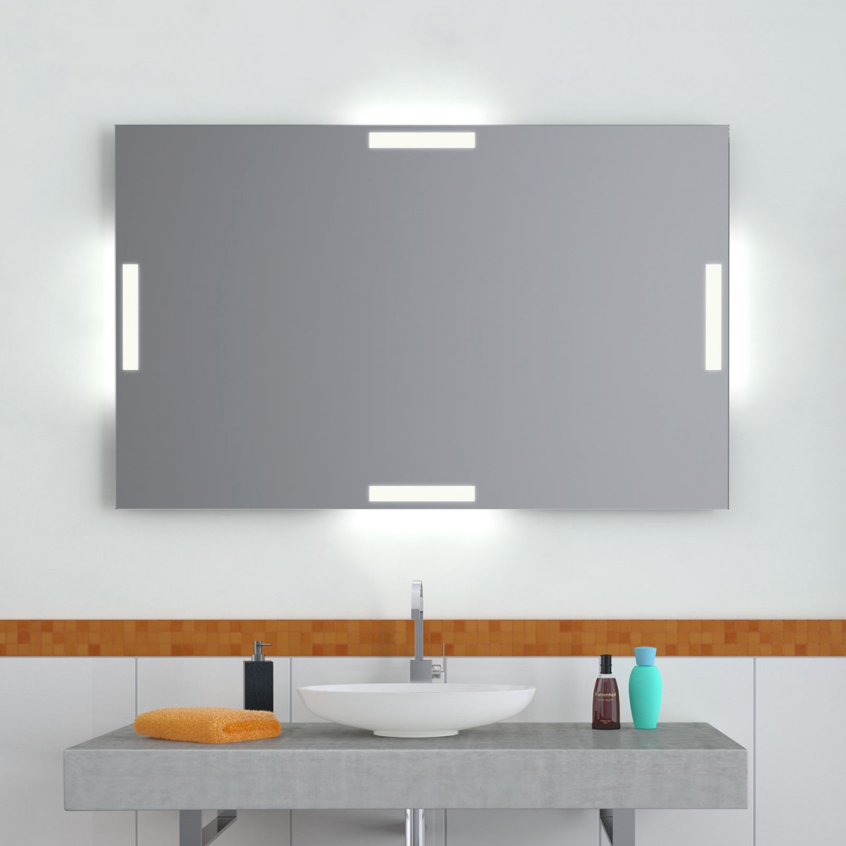 Wandspiegel LED Bars