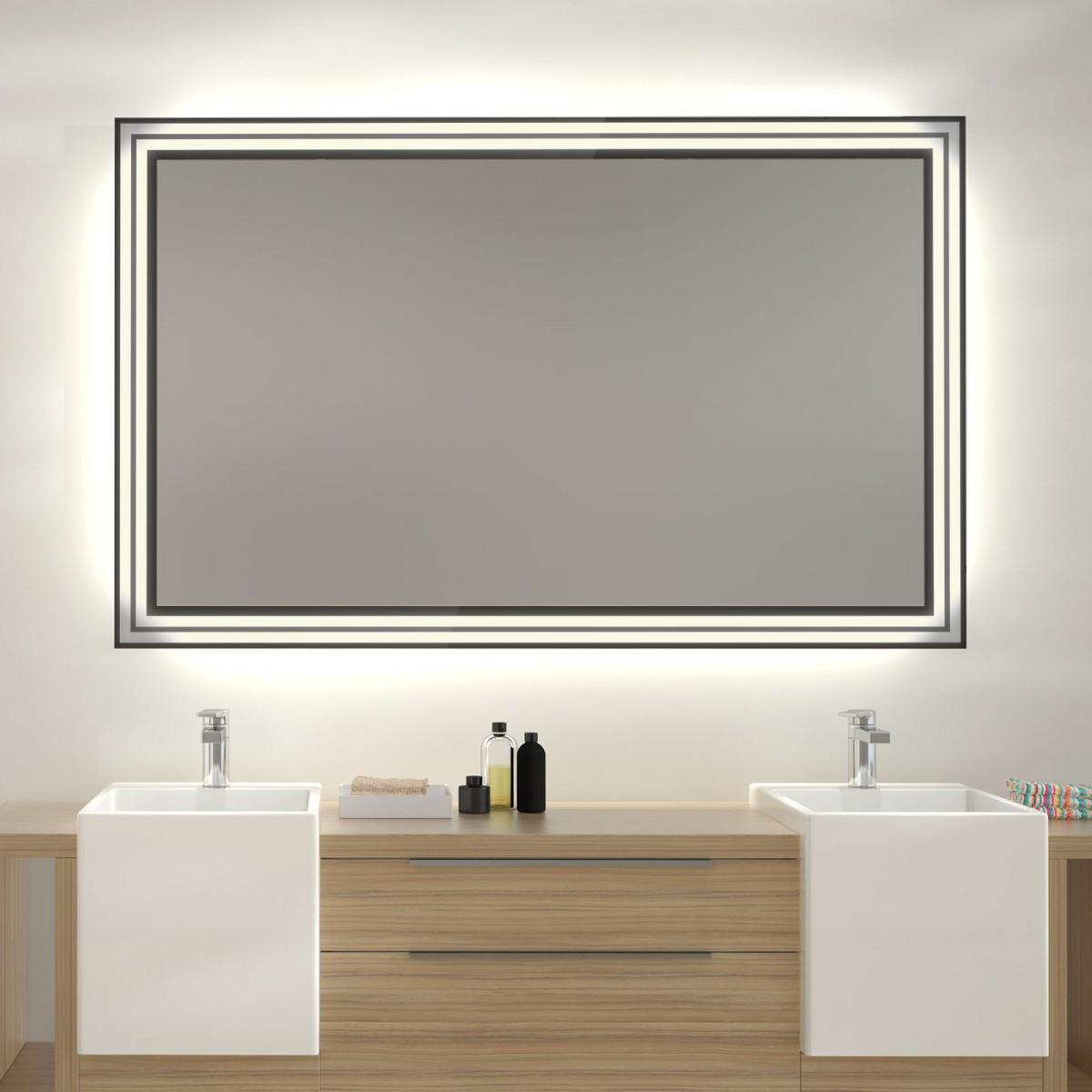 Glas auf Glas Spiegel mit Motiv Duplex