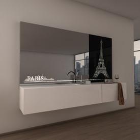 Teil-Lack-Wandspiegel Paris