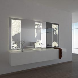 Teil-Lack-Wandspiegel Drei Fenster
