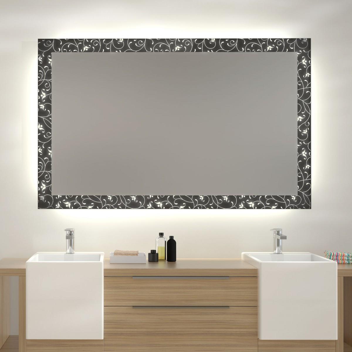 Glas auf Glas Spiegel mit Motiv Orient