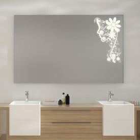 Badezimmerspiegel Flora mit LED