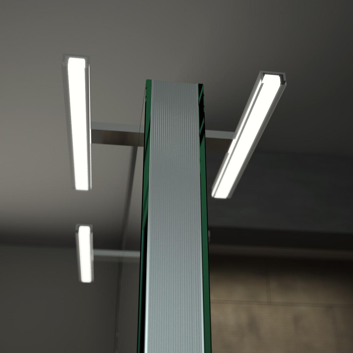spiegel raumteiler mit leuchte esther 989704171. Black Bedroom Furniture Sets. Home Design Ideas