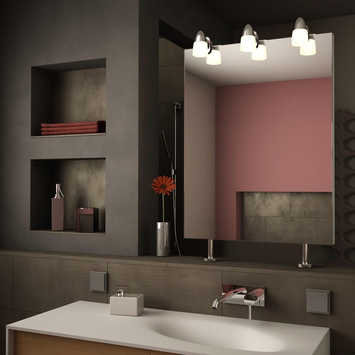 Spiegel Raumteiler mit Leuchte Sticker II