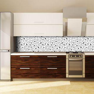 Küchenrückwand aus Glas Black Flowers  – Bild 3
