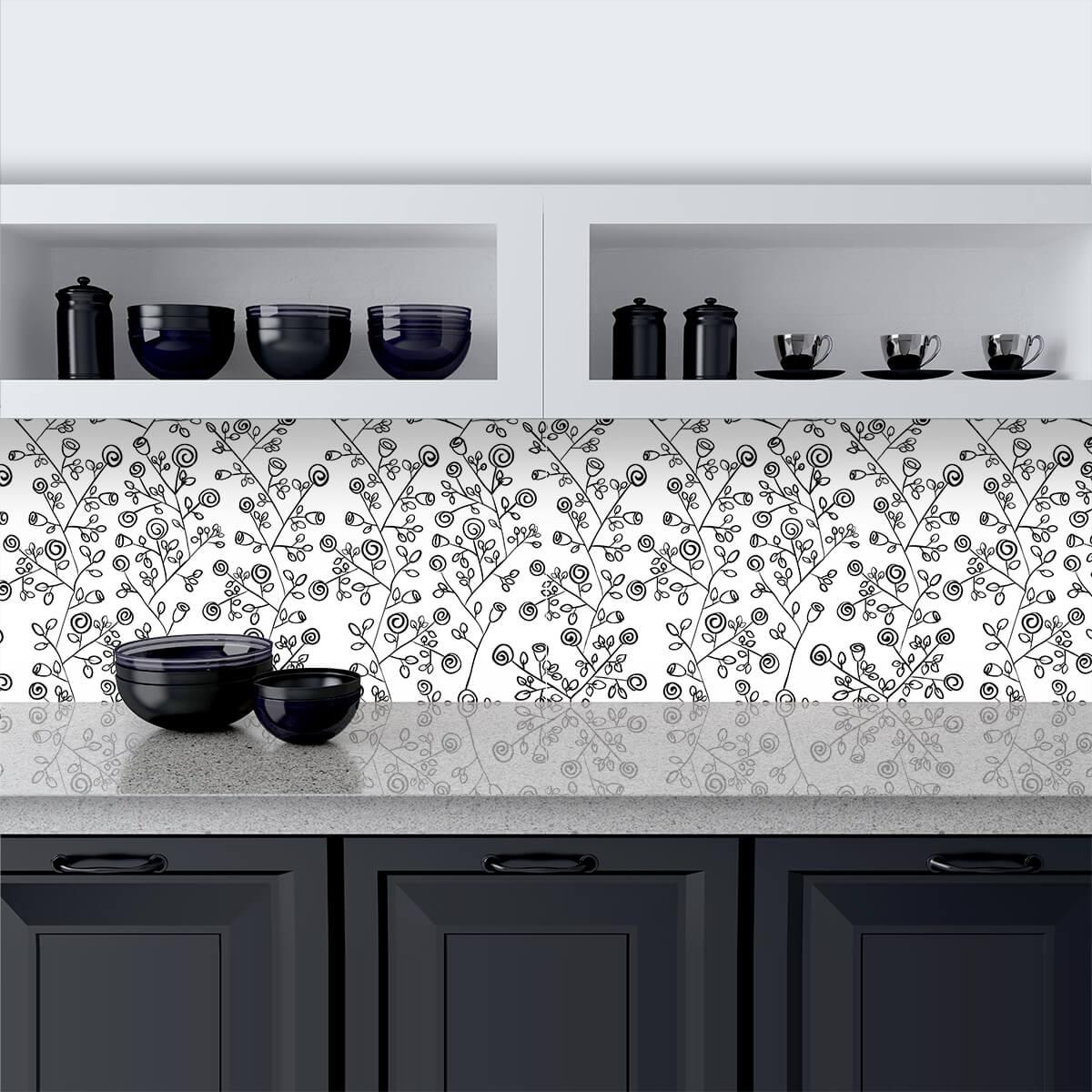 Küchenrückwand aus Glas Black Roses
