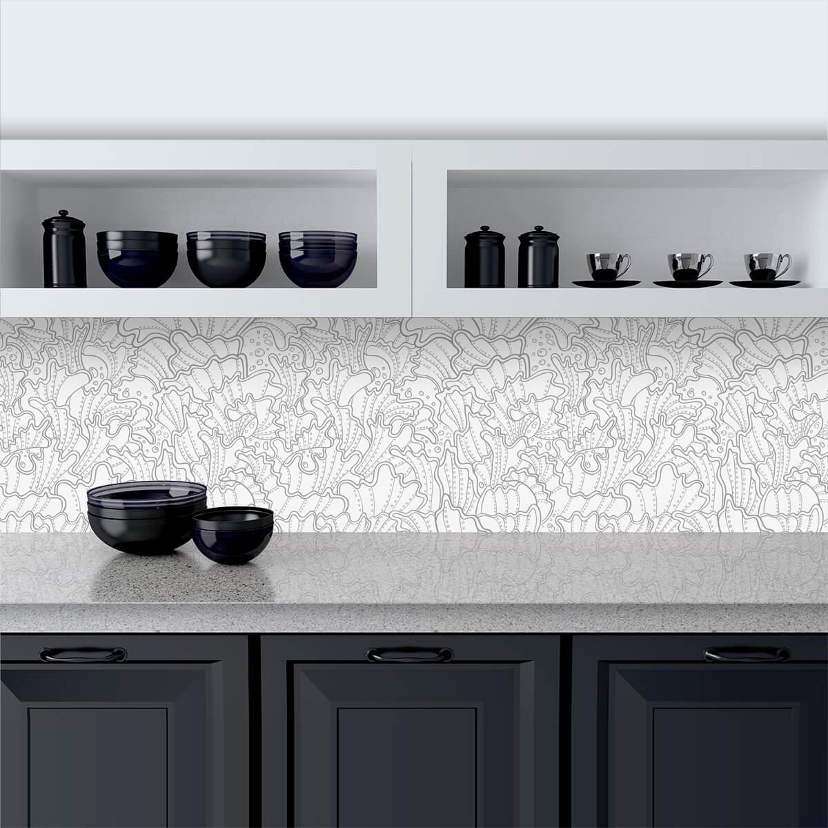 Küchenrückwand aus Glas Mussels