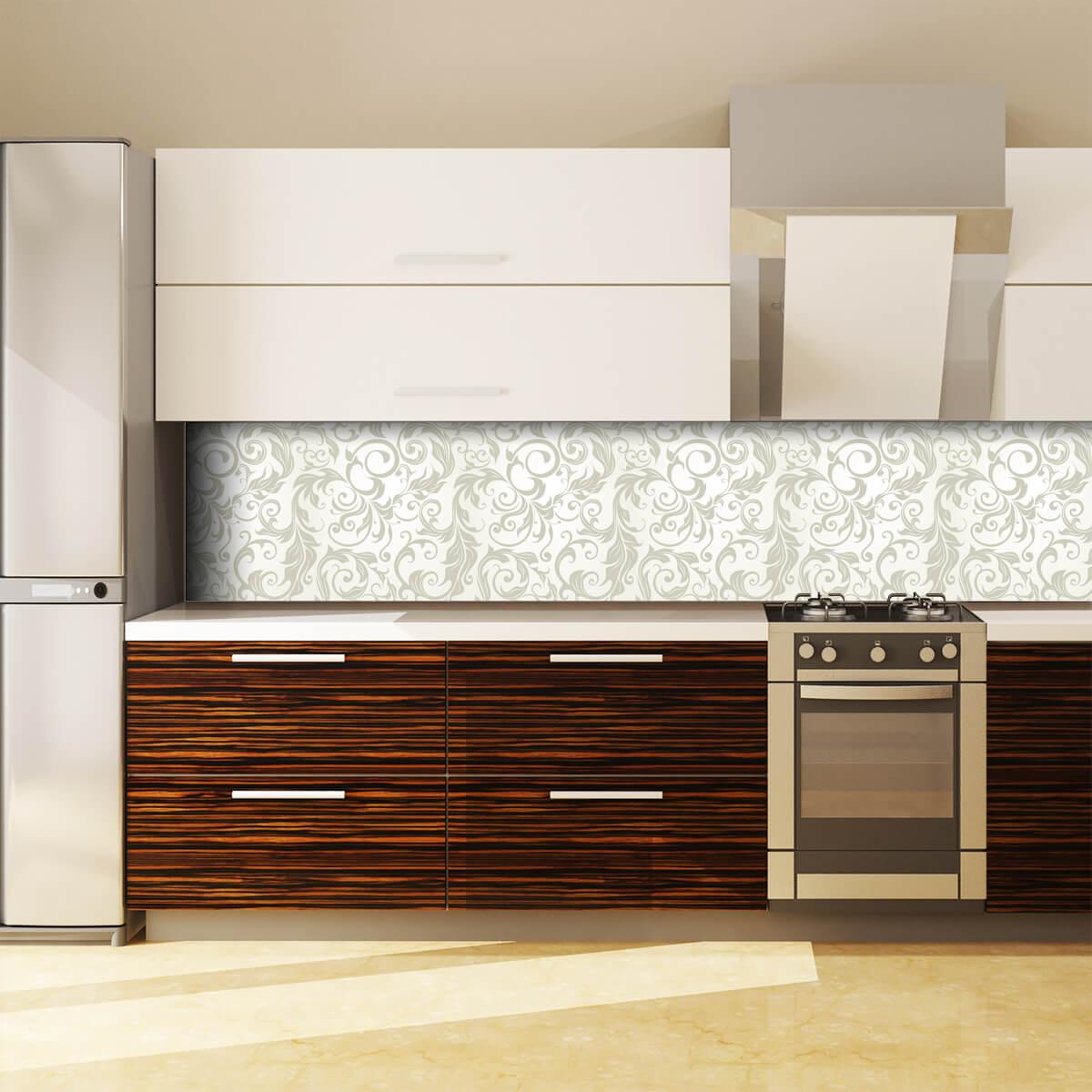 Küchenrückwand aus Glas Flower Dekor 989704219