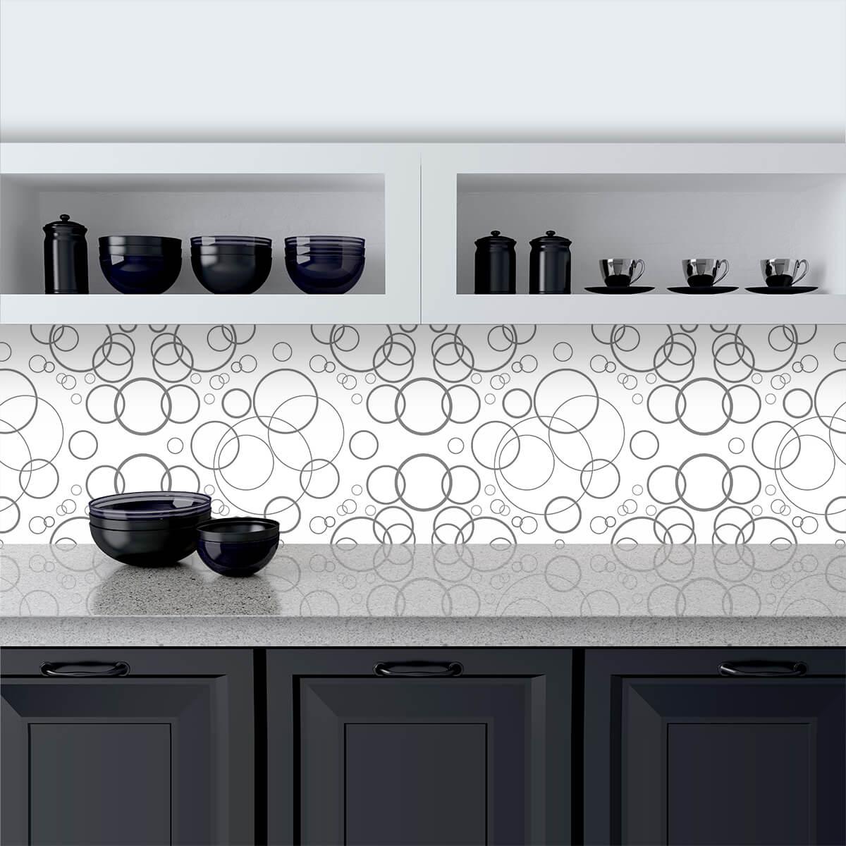 Küchenrückwand aus Glas Bubbles