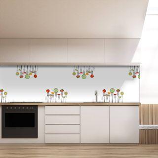 Küchenrückwand aus Glas Gabeltanz  – Bild 2