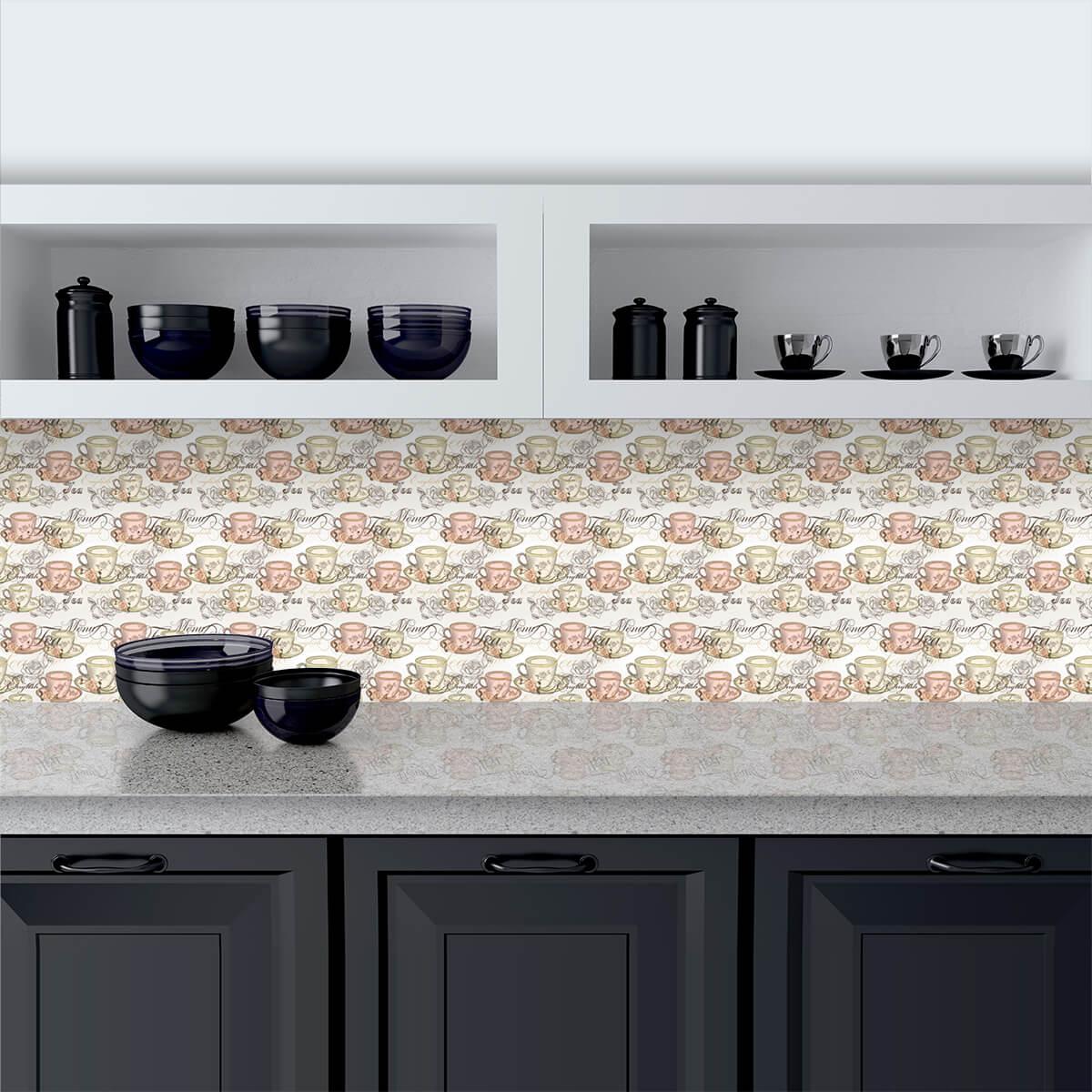 Küchenrückwand aus Glas Tea-Time