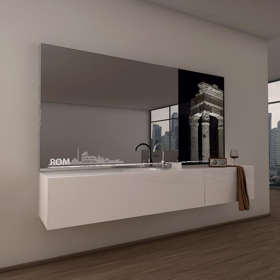 Teil-Lack-Wandspiegel Rom