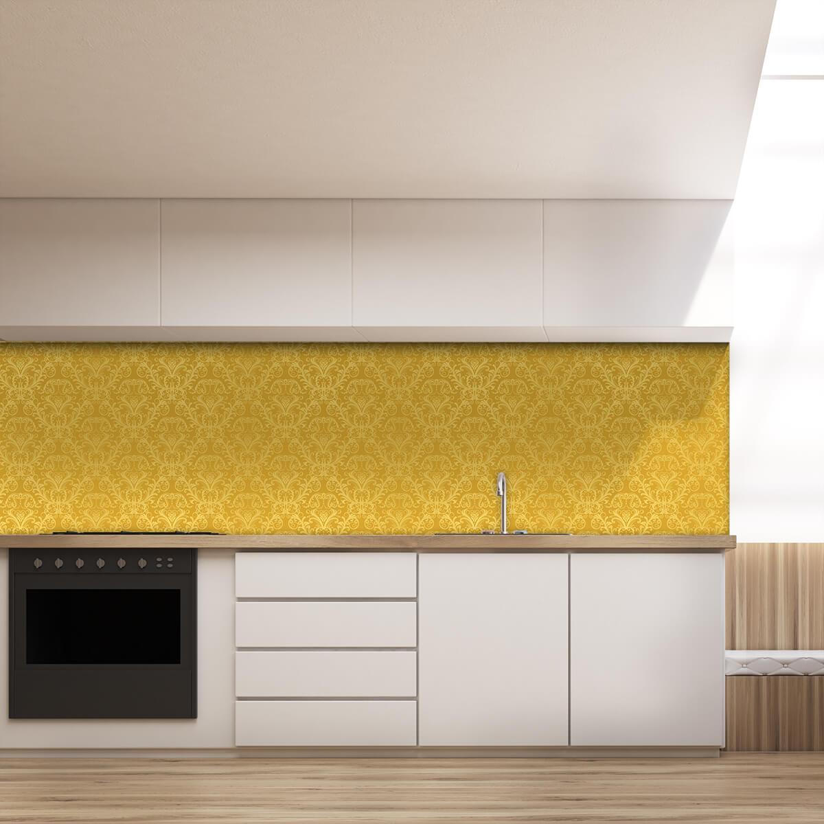 Kuchenruckwand Aus Glas Golden Ornaments 989704901