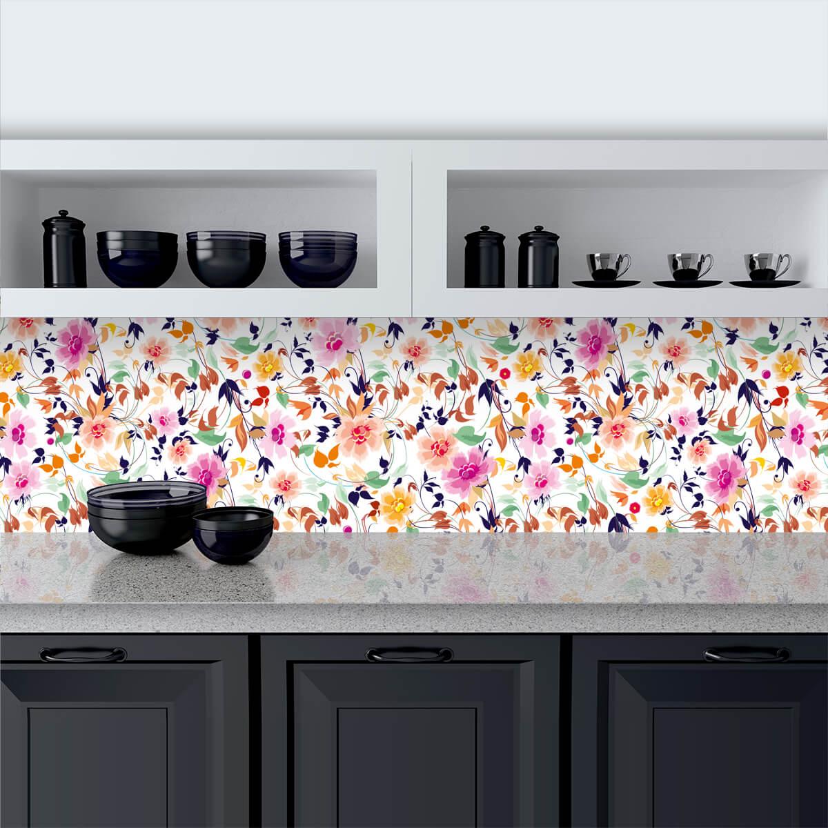 Küchenrückwand aus Glas Sommerfrische