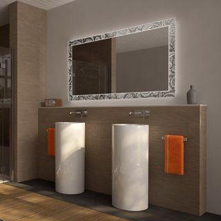 Badspiegel mit Licht Floral Dreams – Bild 1