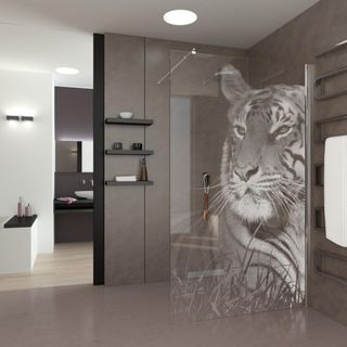 Walk In Dusche Eye of the Tiger – Bild 1
