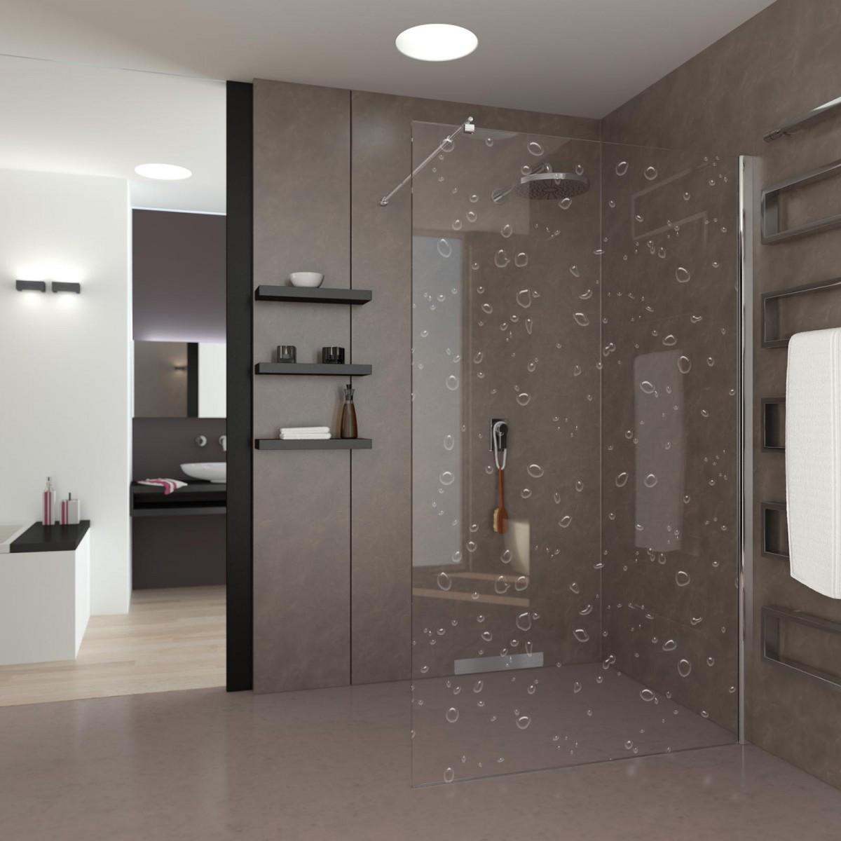 Walk In Dusche Regentropfen