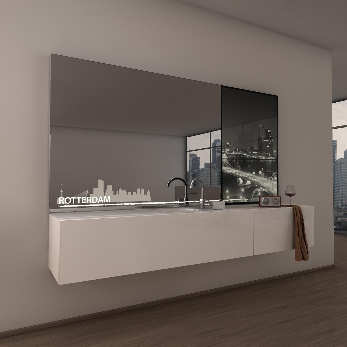 Teil-Lack-Wandspiegel Rotterdam
