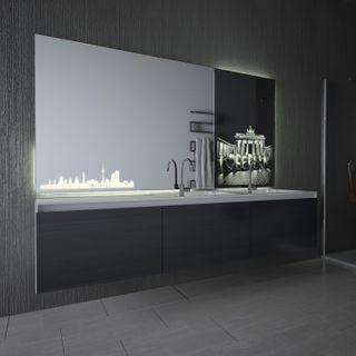 Teil-Lack-Wandspiegel I ♥ Berlin – Bild 1