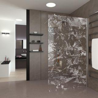 Walk In Dusche gelasert Frozen (989705114) ab 779,00 EUR von Lionidas auf glastüren-shop.com