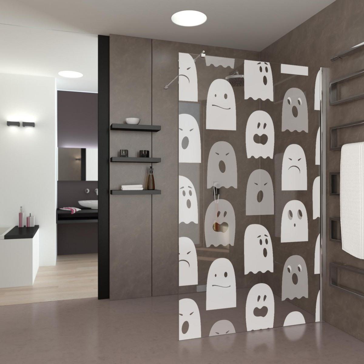 lustige walk in dusche geisterj ger 989705115. Black Bedroom Furniture Sets. Home Design Ideas