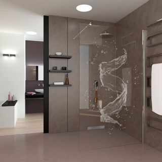Walk In Dusche Gelasert Mit Motiv Art Design 989708629