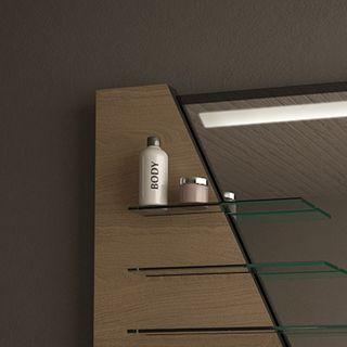 Modernes Spiegelmöbel mit Regalen Turold – Bild 2