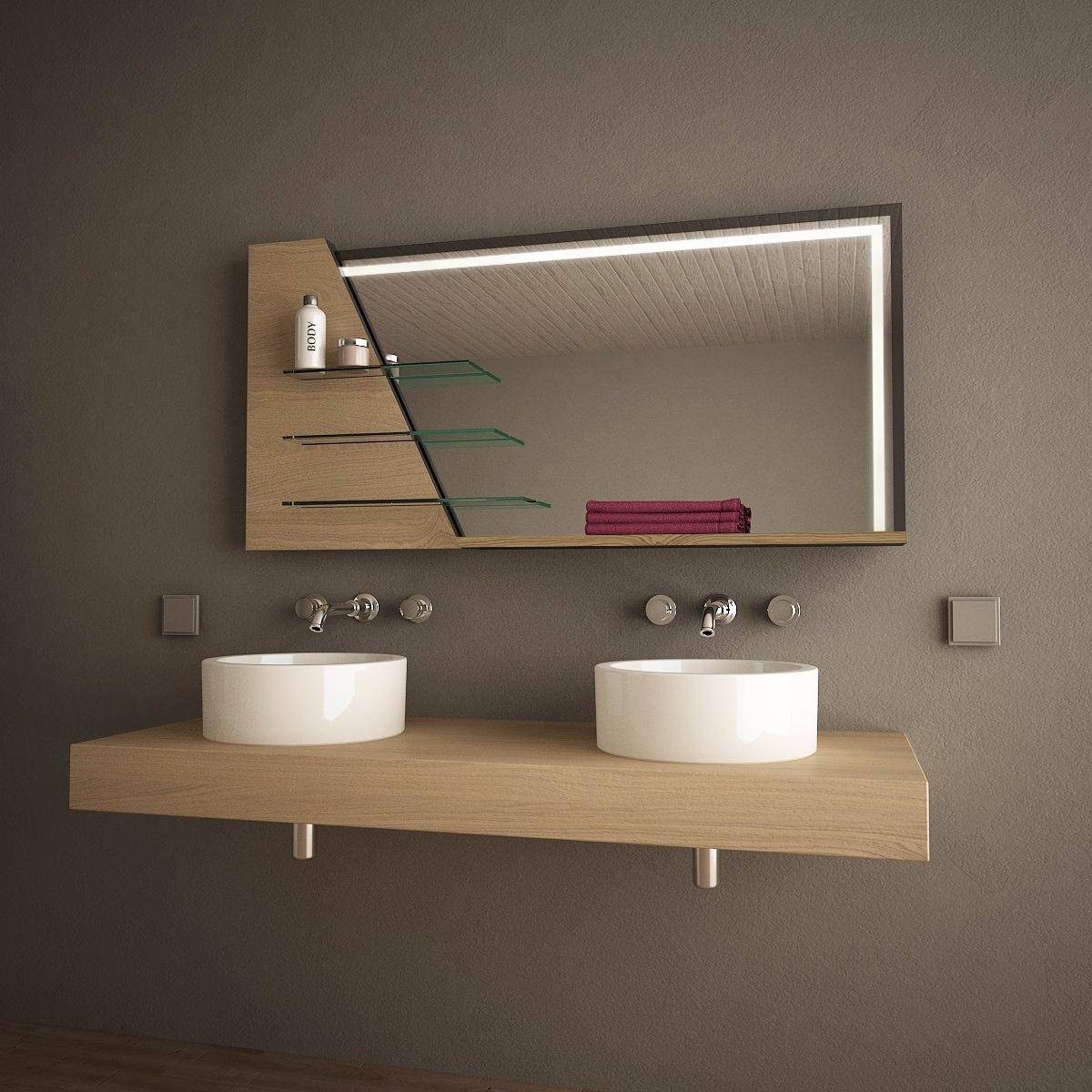 Spiegelmöbel mit Regal K2