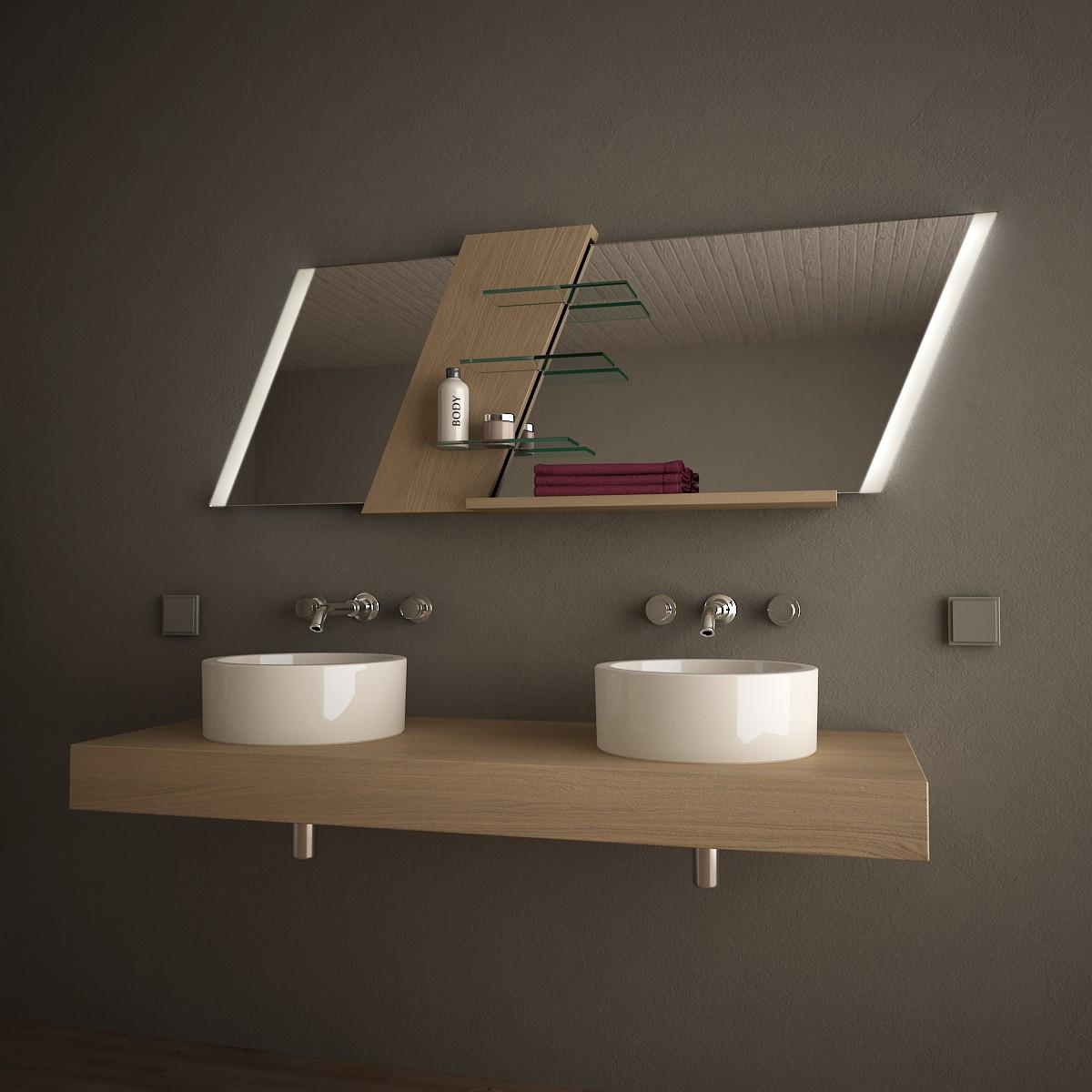 Spiegelmöbel mit Regalen Rhomboid