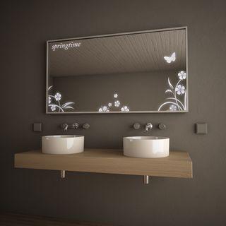 Badezimmer-Wandspiegel mit Alurahmen Fiori – Bild 3
