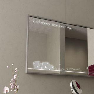 Spiegel LED-beleuchtet mit Alurahmen Las Vegas – Bild 2