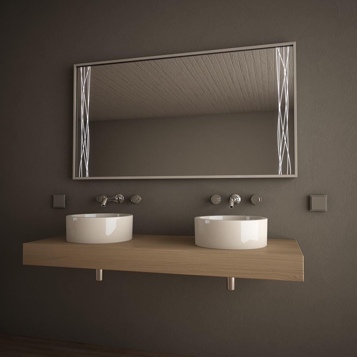 Badspiegel mit Alurahmen Swinging Lines