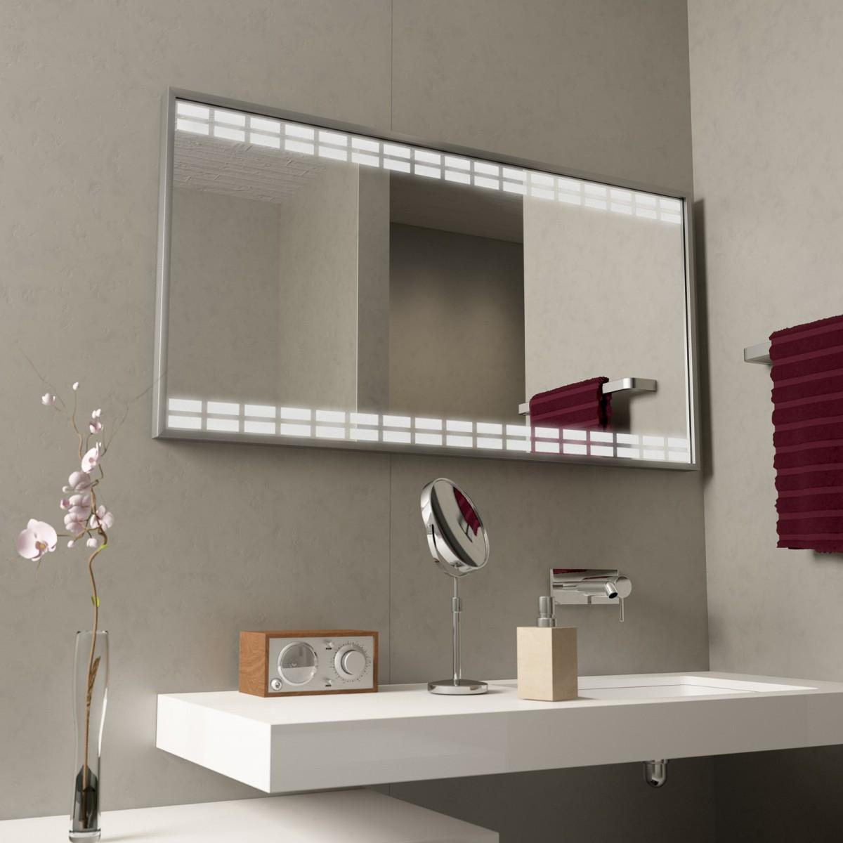 Badspiegel mit Alurahmen Rectangles