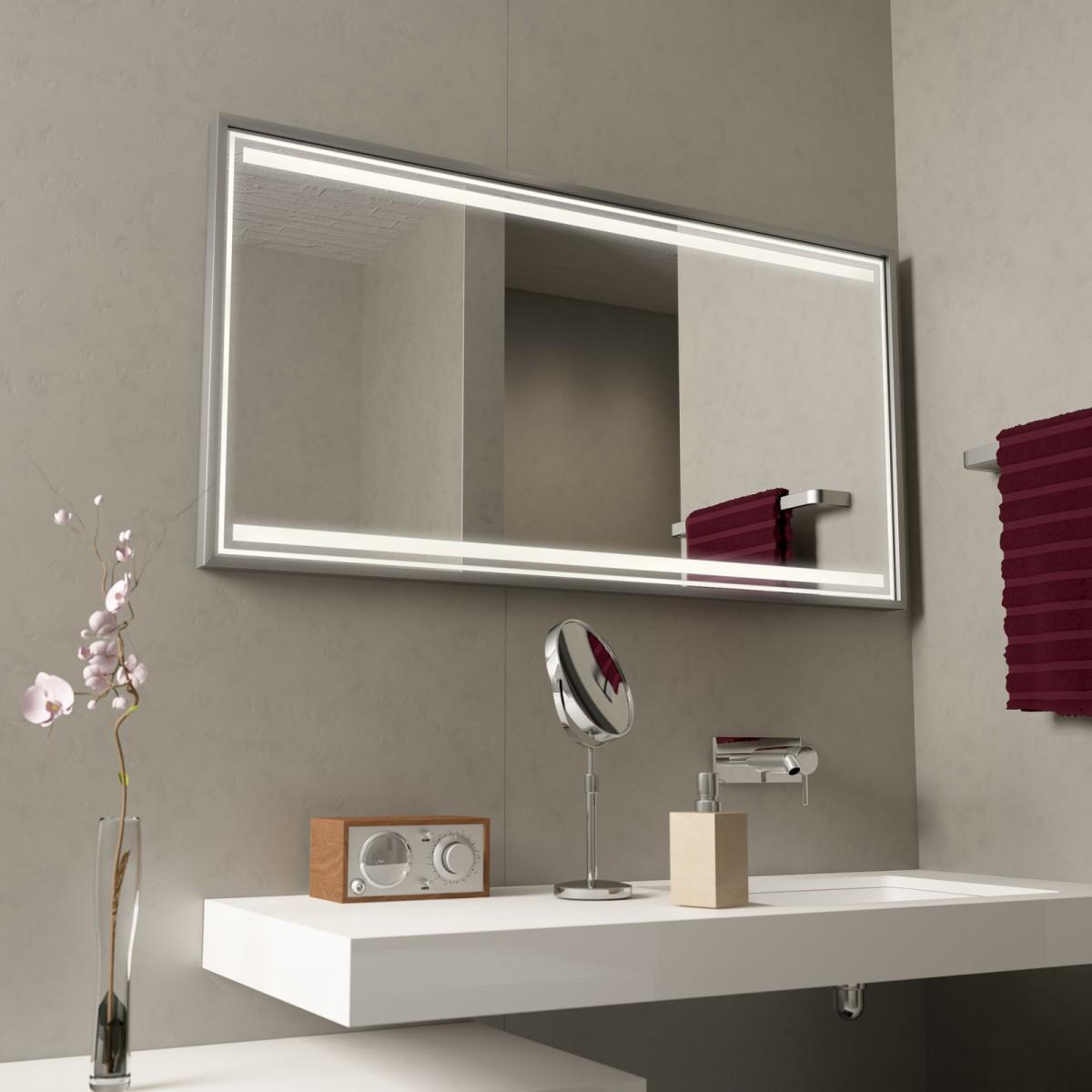 Badspiegel mit Alurahmen Zafira