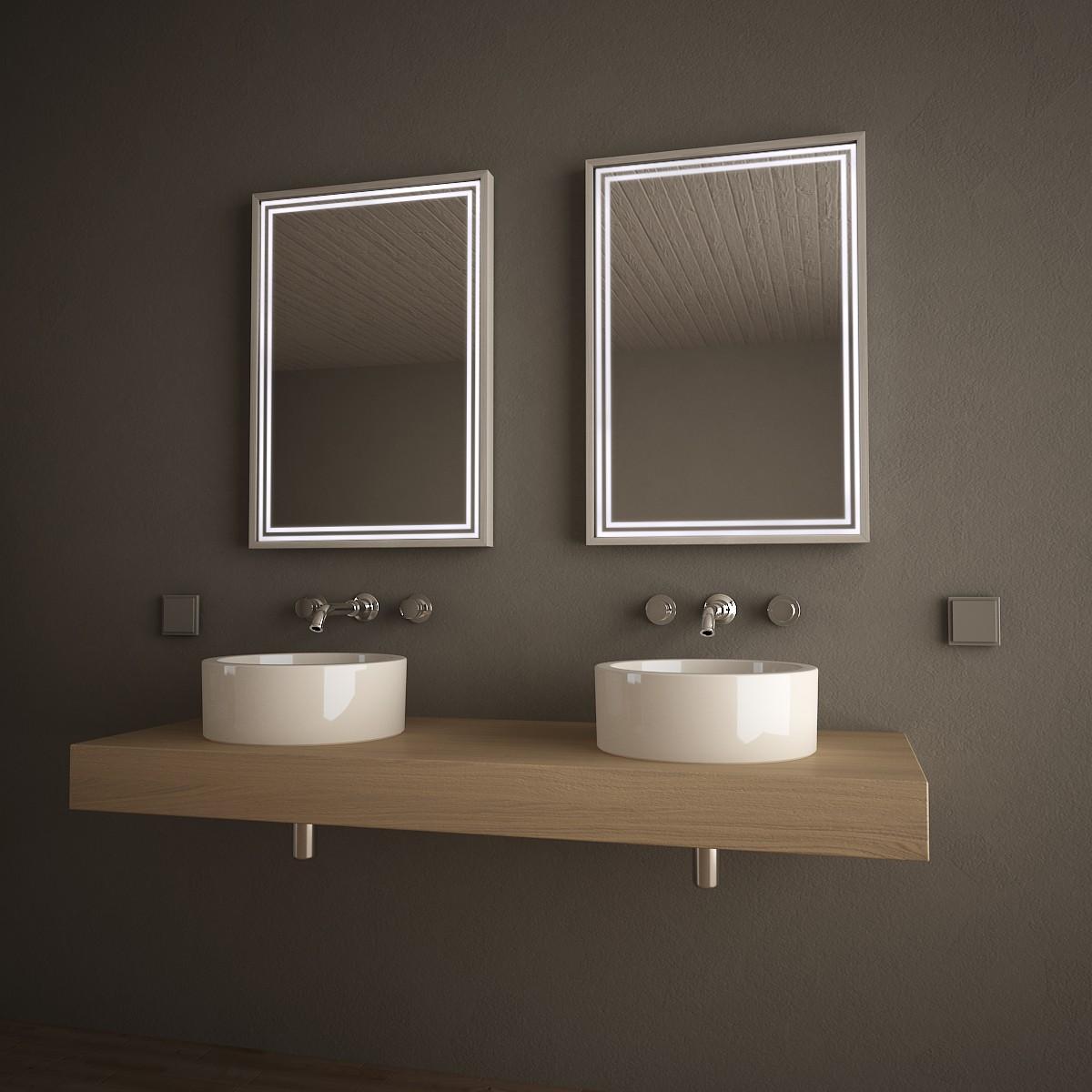 Beleuchteter Spiegel mit Alurahmen Framelines 989705151