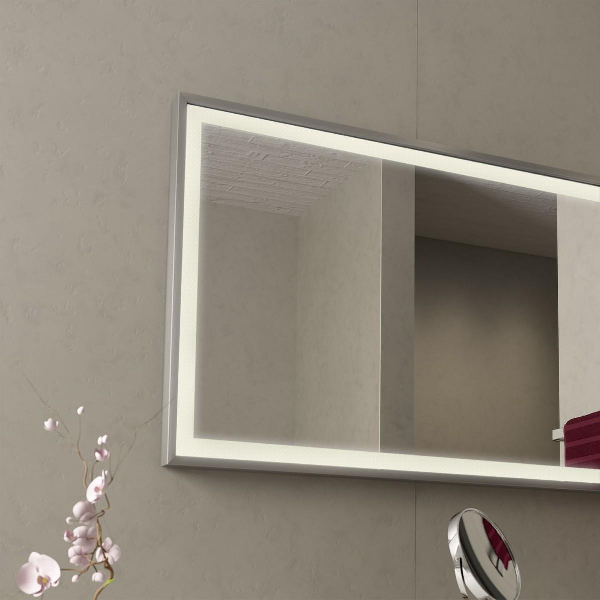 spiegel led mit alurahmen frame 989705152. Black Bedroom Furniture Sets. Home Design Ideas