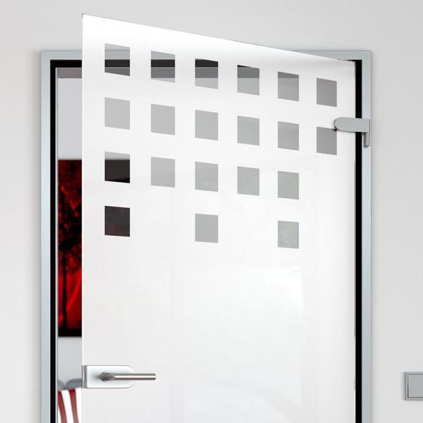 Produktbild 2 Glastür satiniert mit Motiv Binär by Lionidas - Mit der Glastür Binär wird das Mathematikerherz geweckt.
