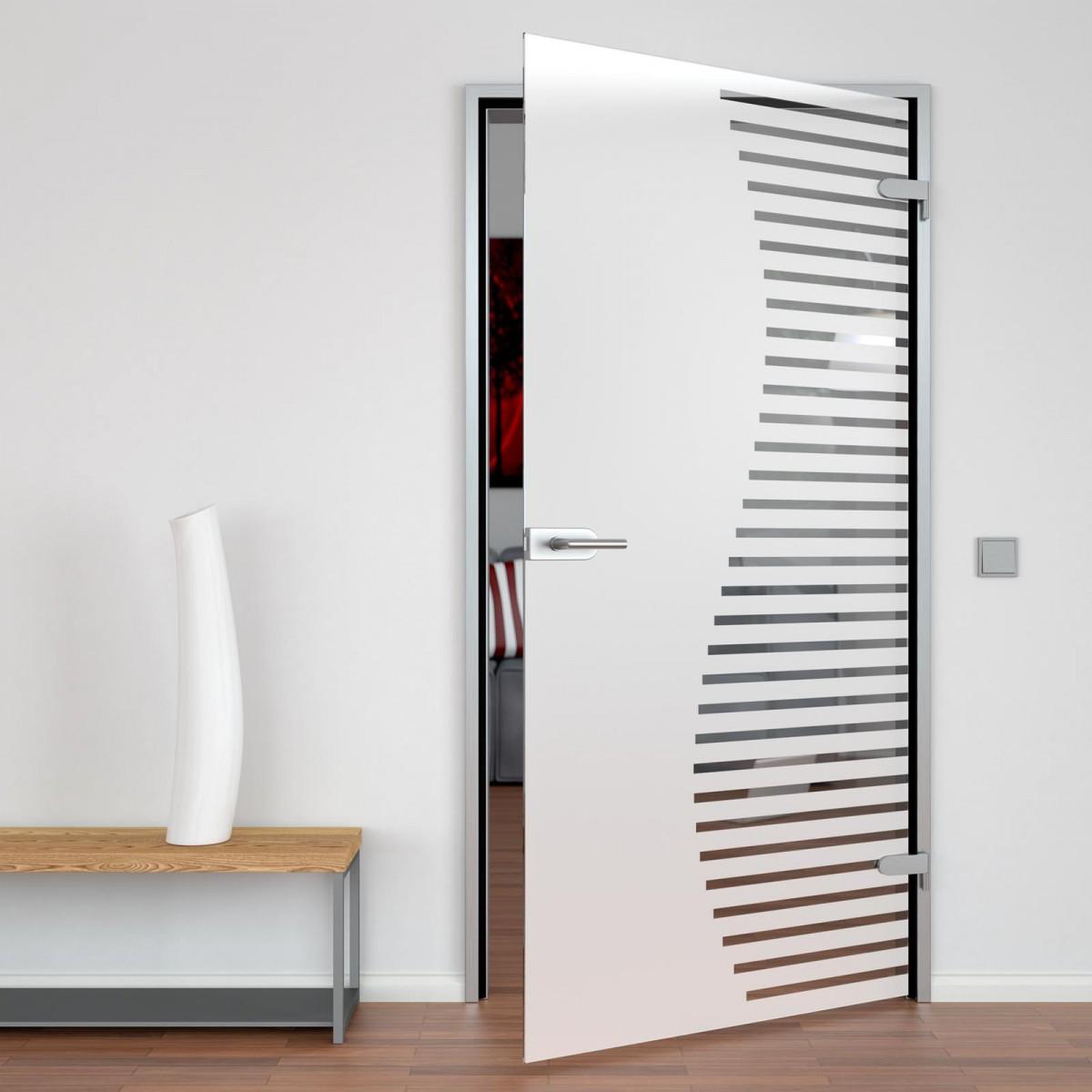 Glastür für Büro Curvy