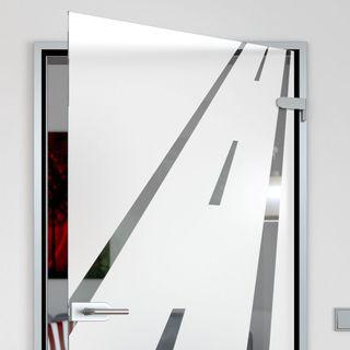 Glastür mit Motiv Road – Bild 2